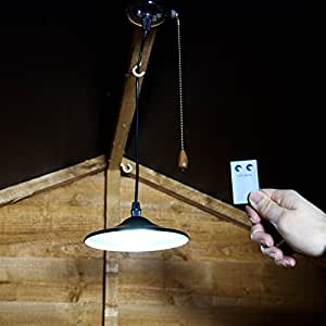 led shed light solar powered bright white remote