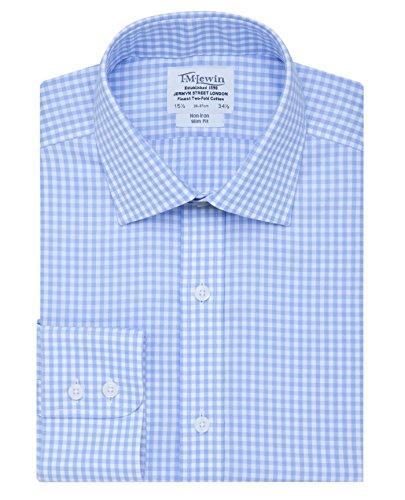 tmlewin-mens-non-iron-gingham-slim-fit-button-cuff-shirt-blue-15
