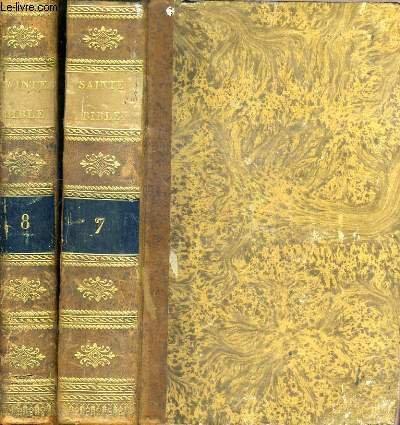 LA SAINTE BIBLE EN LATIN ET EN FRANCOIS SUIVIE D'UN DICTIONNAIRE ETYMOLOGIQUE, GEOGRAPHIQUE ET ARCHEOLOGIQUE - TOME 7 et 8 / TEXTE EN LATIN ET FRANCOIS.