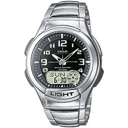 Casio Collection Reloj Analógico/Digital de Cuarzo para Hombre con Correa de Acero Inoxidable – AQ-180WD-1BVES