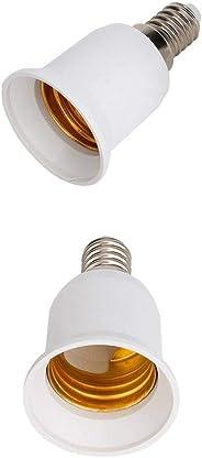 2PCS E14 to E27 Base Screw Light Lamp Bulb Holder Adapter Socket Converter 2PCS