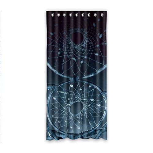 """Doubee - Cortina de balcón de poliéster con diseño de atrapasueños, Personalizable y Colorido, 132 x 274 cm (una Pieza), Poliuretano, B, 52""""x108"""""""