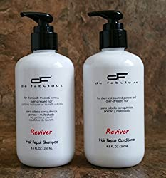 De Fabulous Shampoo and Conditioner Reviver Set Sulfate Free for Keratin Treatment 8oz