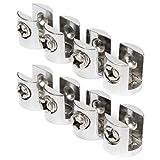 SODIAL(R) 8 Stueck Glasbodentraeger Glasbodenhalter Fachbodenhalter Bodenhalter 6-8mm Silber