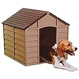 Hundehuette Hundehaus aus Kunststoff mokka braun Marke Starplast Art. 10-701 fuer kleine / mittelgrosse Hunde
