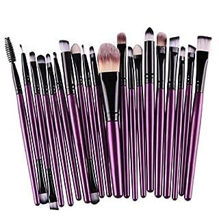 Amcool 20PCS Professional Brush Makeup Brush Set Make Up Cosmetics Eyeshadow Makeup Professional Wool Hair Lila