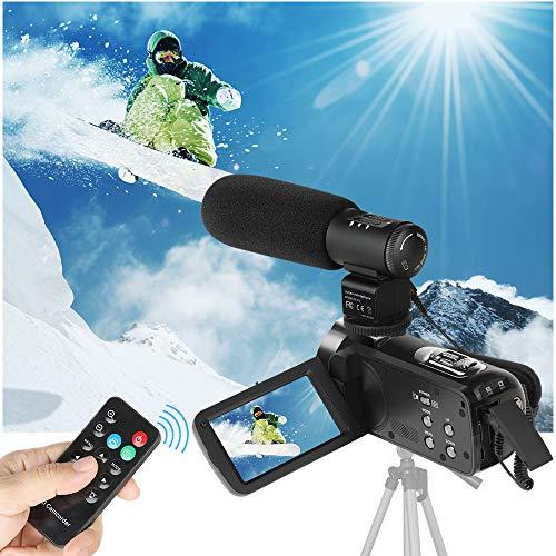 Videocamera digitale, ACTITOP FHD 1080p 24MP Zoom digitale 16x con microfono esterno e telecomando