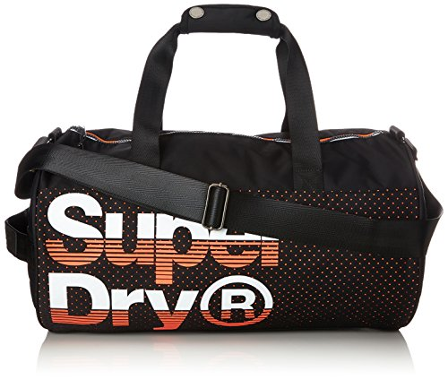 Superdry Herren New Wave Rucksack, Multicolore (Black/Hazard Orange), 30x45x15 cm (New-wave-tasche)