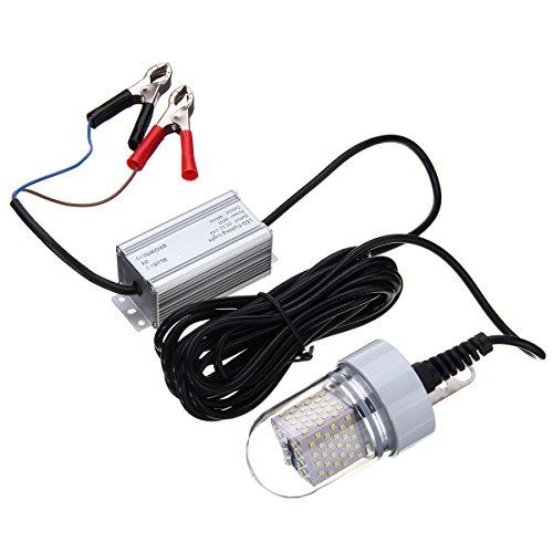 LEDMOMO 12V 60W LED submersible lumière de pêche Deep Drop sous-marine poisson Finder lampe (vert)