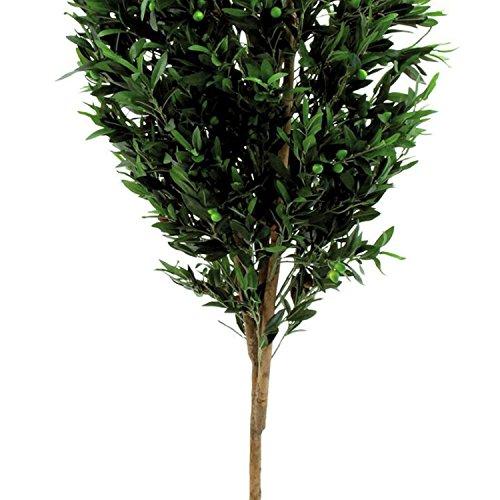 artplants Künstlicher Olivenbaum mit 3455 Blättern, 325 Oliven, Naturstamm, 200 cm – Deko Baum/Künstlicher Baum