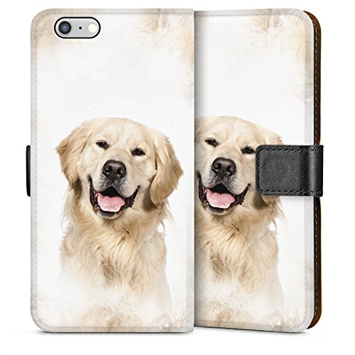 Apple iPhone 3Gs Housse étui coque protection Golden Retriever Chien Chien Sideflip Sac