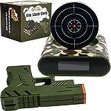 Digitaler Wecker mit Pistole & Zielscheibe - Creatov Digital Alarm Clock Wecker ohne Ticken Kinder & Erwachsene Gadgets Gun W
