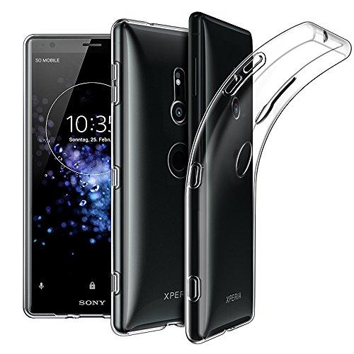 EasyAcc Sony Xperia XZ2 Hülle Case, Dünn Crystal Clear Transparent Tasche Handyhülle Cover Soft Premium-TPU Durchsichtige Schutzhülle Backcover Slimcase für Sony Xperia XZ2 5.7''