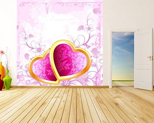 Bilderdepot24 Autoadhesivo Fotomural Corazón San Valentín 420x420 cm - Directamente Desde el Fabricante
