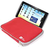 Duragadget Water and Shock Resistant Neoprene Case for Archos 101 G9 and 80 G9 101 Internet Tablet - Red