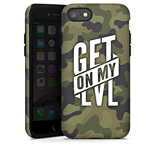 Apple iPhone 7 Silikon Hülle Case Schutzhülle Montanablack Fanartikel Merchandise Get On My Level Camo Tough Case glänzend