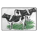 Bennigiry Lustige Milchkuh Bereich Teppich Teppich Rutschfeste Eintrag Bodenmatte Fußmatten für Wohnzimmer Schlafzimmer 152,4 x 449 cm