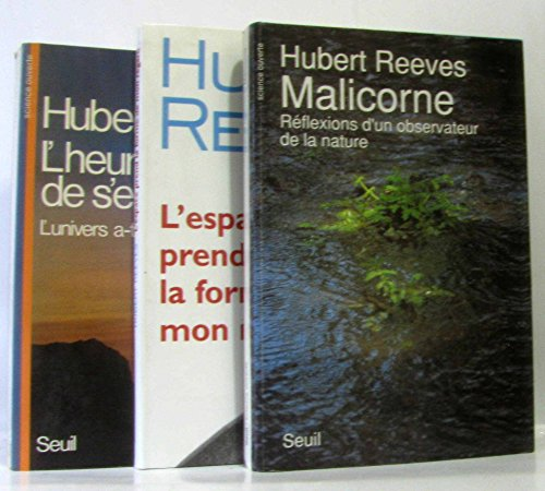 Lot de 3 romans: l'univers a-t-il un sens? + L'espace prend la forme de mon regard + Réflexions d'un observateur de la nature