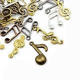 Paquet 30 grammes Mixte Tibétain Mélange Aléatoire Breloques (Note Musique) - (HA07325) - Charming Beads