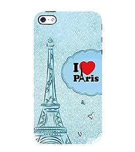 Fiobs Designer Back Case Cover for Apple iPhone 4 (I Love Paris Quote Blue)