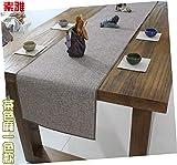 Qinqin666 Einfarbiger Couchtisch Chinesische Tischfahne aus Baumwollleinen Tee Farbe 30x160cm