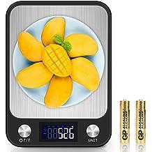 Báscula Cocina, Balanza Electrónica de Cocina con Plataforma de Gran, 5kg/11lbs,