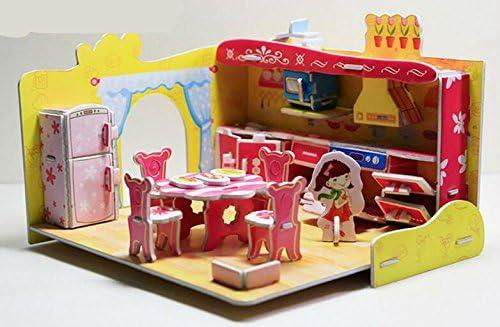 Jouet mignon Creative éducatif 3D 3D 3D Puzzle Early Learning formes couleur Animal Toy Fantastic cadeaux pour les enfants (cuisine) bab502