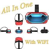 3d VR móvil todo en uno, bevifi [HD anti luz azul Lente] 5pulgadas 1280* 720VR Gafas de Realidad Virtual Auriculares con 16GB módulo de apoyo WIFI/2.4G tarjeta TF/USB OTG (teléfono no necesita, Navidad regalos)