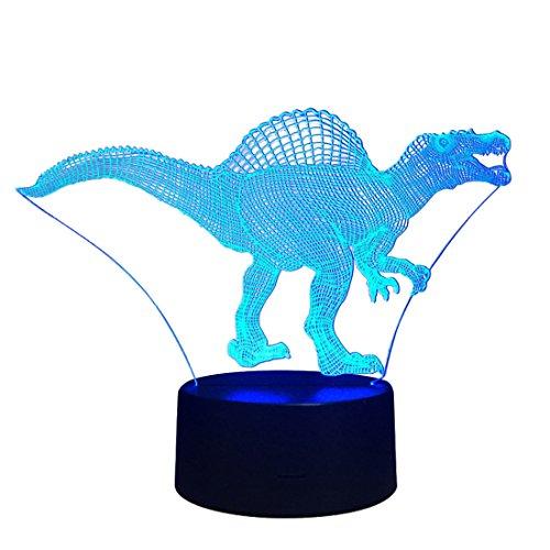 HOUYAZHAN LED Nachtlicht Wireless Touch Beleuchtung Lampen Indoor Akku Moving Table Lampe für Kinderzimmer, Flur Schlafzimmer Baumwolle Dinosaurier (Size : Touch Control)