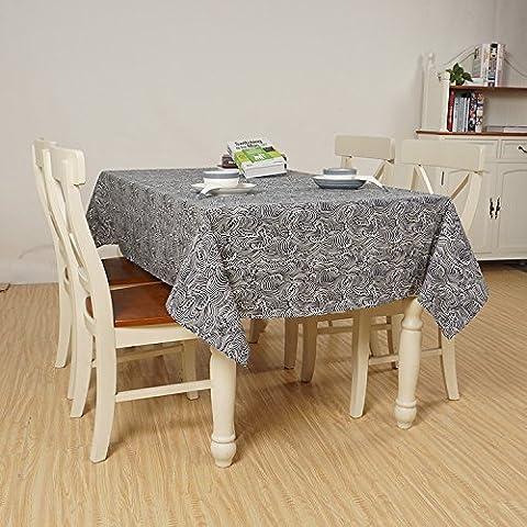 JY$ZB De style japonais nappe en tissu de couverture de tissu de table de café salon de tissu de restaurant linge de coton vague nappe décoration de la chambre pour le ménage de fête banquet pique-nique , 120x160cm