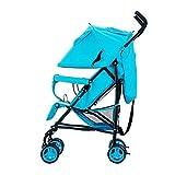 MUMA Bambino Passeggino Pieghevole Inoltre Parapioggia Traspirante Quattro Round Bambino Auto Ombrello ( Colore : Blu )