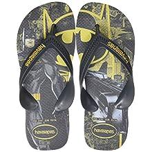 Havaianas Unisex Kid's Max Herois Flip Flops, New Graphite/New Graphite, 2/3 UK 37/38 EU