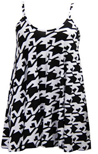 My Fashion Store Damen T-Shirt - Dogtooth Large print