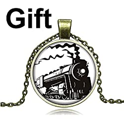 YISUYA Retro Bronze Full Hunter Case 3D Motorcycle Motorbike Moto Pocket Watch with Chain Locomotive Pendant Necklace Mens Boys Gift Box