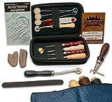 HOLZWURM Leder Werkzeug Set zum Nähen inkl. Tasche und Broschüre