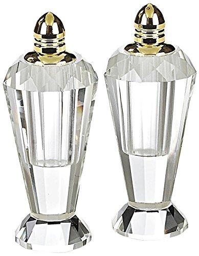 Badash Crystal Gold Salt and Pepper Shaker Set by Badash Gold Salt Shaker