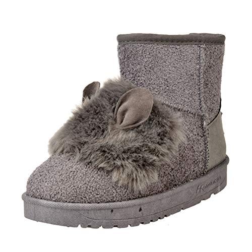 1dba89aede Botas De Invierno para Mujer CáLido Nieve Zapatos Altos Superiores Orejas De  Conejo Gruesas Moda Zapatos