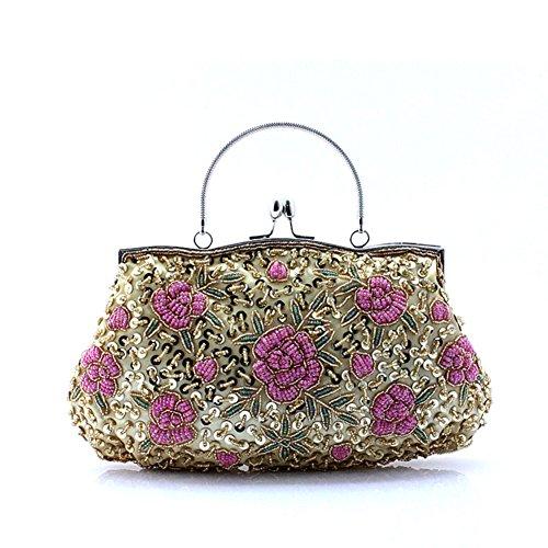 Perlen Hobo Bag (Pailletten Dinner Folk Style Clutch Bag Hand-Perlen-Tasche-A)
