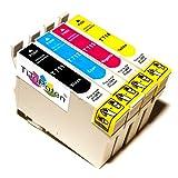 4x Kompatible Druckerpatronen - Ersatz für T0715 - Cyan / Magenta / Gelb / Schwarz- PATRONEN MIT NEUESTEN CHIP - Epson Stylus B40W BX300f BX310FN BX600FW BX610FW D120 Network D78 D92 DX400 DX4000 DX4050 DX4400 DX4450 DX5000 DX5050 DX6000 DX6050 DX6050EN DX7000 DX7000F DX7400 DX7450 DX8000 DX8400 DX8450 DX9400F Wifi Office BX510 SX600FW S20 S21 SX100 SX105 SX110 SX115 SX200 SX205 SX210 SX215 SX218 SX400 SX405 SX410 SX415 SX510W SX515W SX610FW