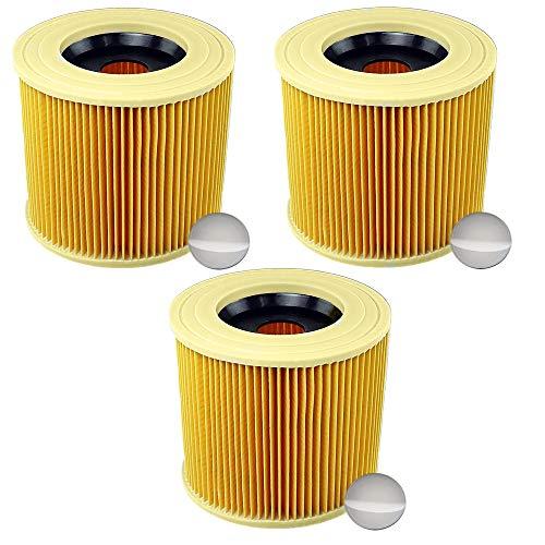 3x Patronenfilter Patronen Filter Staubsauger für Kärcher WD3 Premium WD2 WD3 WD 3 MV3 WD 3 P Extension KIT ersetzt 6.414-552.0, 6.414-772.0, 6.414-547.0