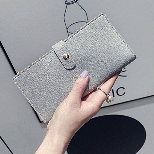 Portafoglio Donna, Tpulling Donna uso quotidiano delle frizioni borsa portafogli borsa della borsa della frizione di qualità (Black) Gary