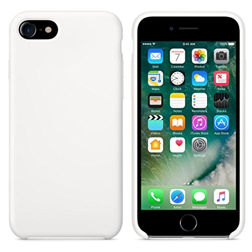 Ouneed® Hülle für iphone 7 4.7 Zoll , High Quality Leather Slim Case Cover Shel für iPhone 7 4.7 Zoll (4.7 Zoll, Beige) Weiß