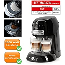 Cafetera artenso Latte–Cafetera monodosis para hacer Cappuccino,Eléctrica, automática