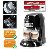 hochwertige Kaffeepadmaschine - Artenso latte - Kaffeemaschine mit Cappuccinatore - Pad Kaffeemaschine - Kaffeevollautomat