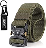 FEIKCOR Tactical Belt, Tactical Heavy Duty Waist Belt for Men, Quick-Release Military Style Shooters Nylon Bel