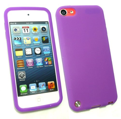 Emartbuy ® Apple Ipod Touch 5 (5. Gen Oktober 2012 Release) Lcd Screen Protector Und Silicon Skin Cover / Case Lila