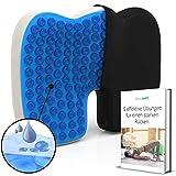Mosswell® Orthopädisches Sitzkissen. Lindert Rückenschmerzen. Ergonomisches Steissbeinkissen mit Gel