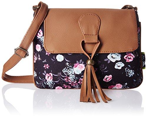 Kanvas Katha Sansa Digital Women's Sling Bag (Brown) (KKSNDP002)