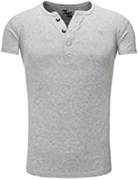 Young and Rich - T shirt homme col v T shirt 872 gris fashion - Gris