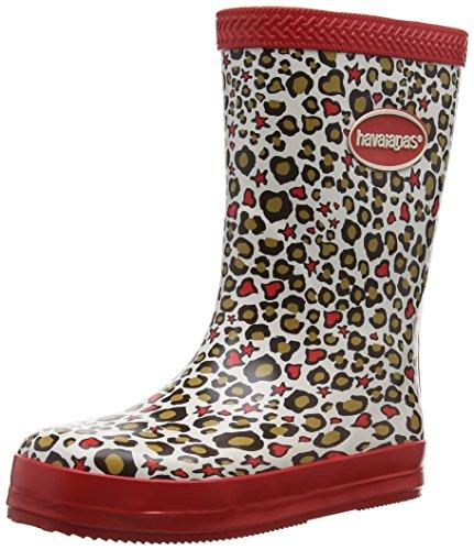Havaianas Aqua Kids Rain Boots, Stivali di gomma Unisex-bambino, Fashion Red, 28 EU